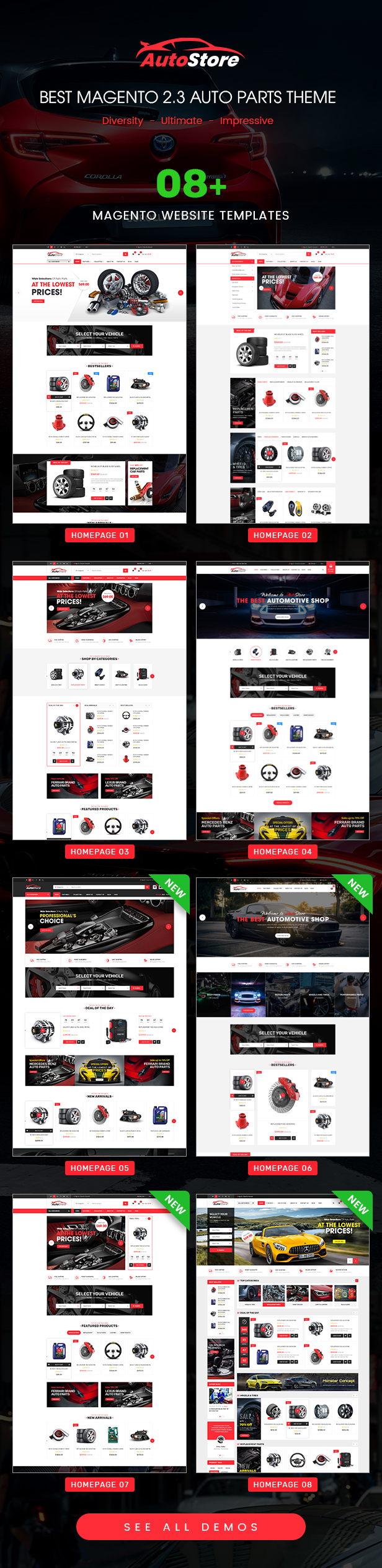 AutoStore - Auto Parts and Equipments Magento 2 Theme with Ajax Attributes Search Module - 5