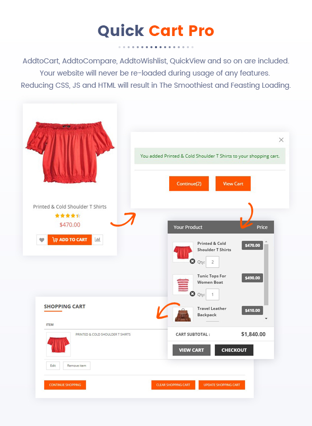 Best Magento 2 Themese - quick cart