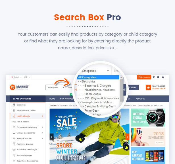 Best Magento 2 Themese - searchbox