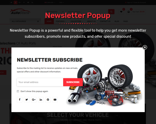 AutoStore - Auto Parts and Equipments Magento 2 Theme with Ajax Attributes Search Module - 17