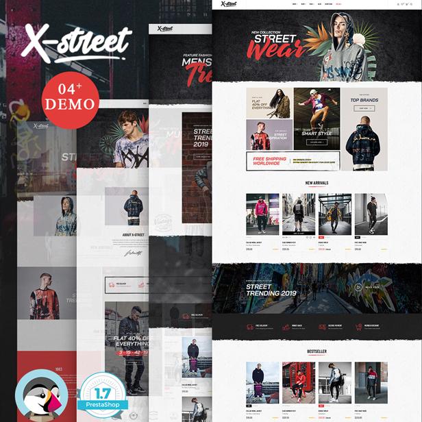 Leo Xstreet Street Style Fashion 2019 Prestashop Theme