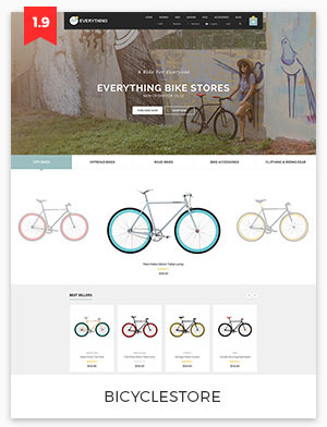 bicycle store magento theme 1.9