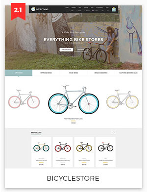 bicycle store magento theme 2.2
