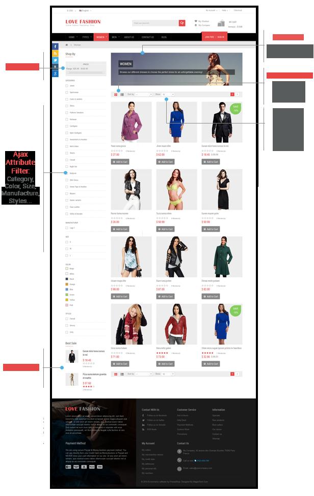 Love Fashion - Listing Page