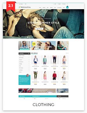 clothing magento theme 2.2