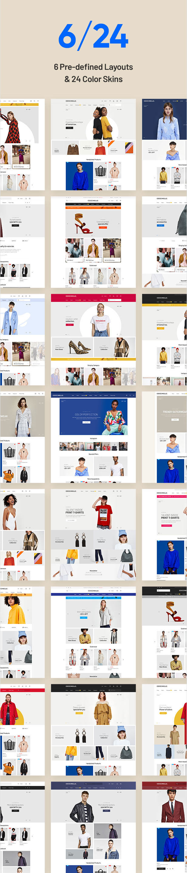Coccinelle - Multi-Purpose Responsive Magento 2 and Magento 1 Theme - 4
