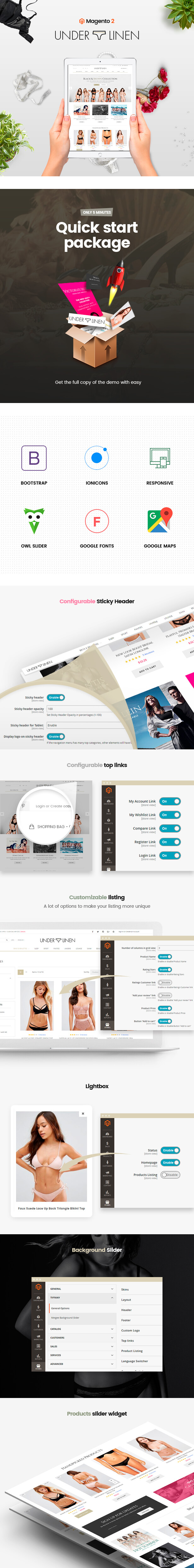 Underlinen - Lingerie Magento 2 and Magento 1 Theme - 3