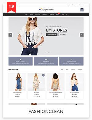 fashion clean magento theme 1.9