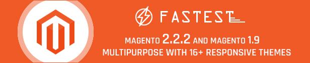 Fastest - Magento 2 themes & Magento 1. Multipurpose Responsive Theme (20 Home) Shopping,Fashion
