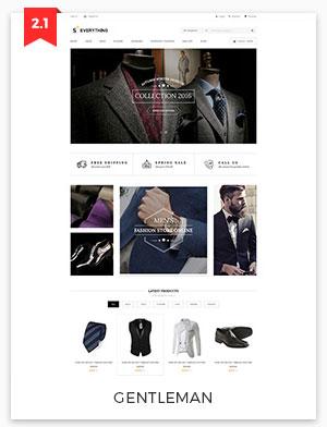 gentleman magento theme 2.2