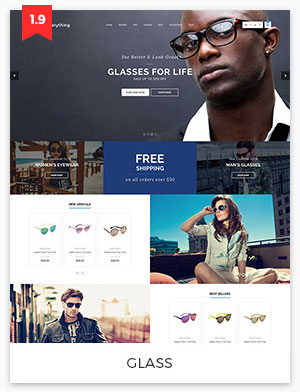 glass magento theme 1.9