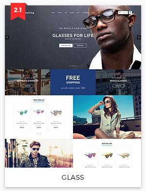 glass magento theme 2.2