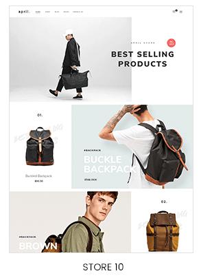full-width backpack store design