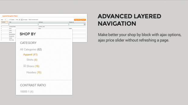 Advance Filter Products widget