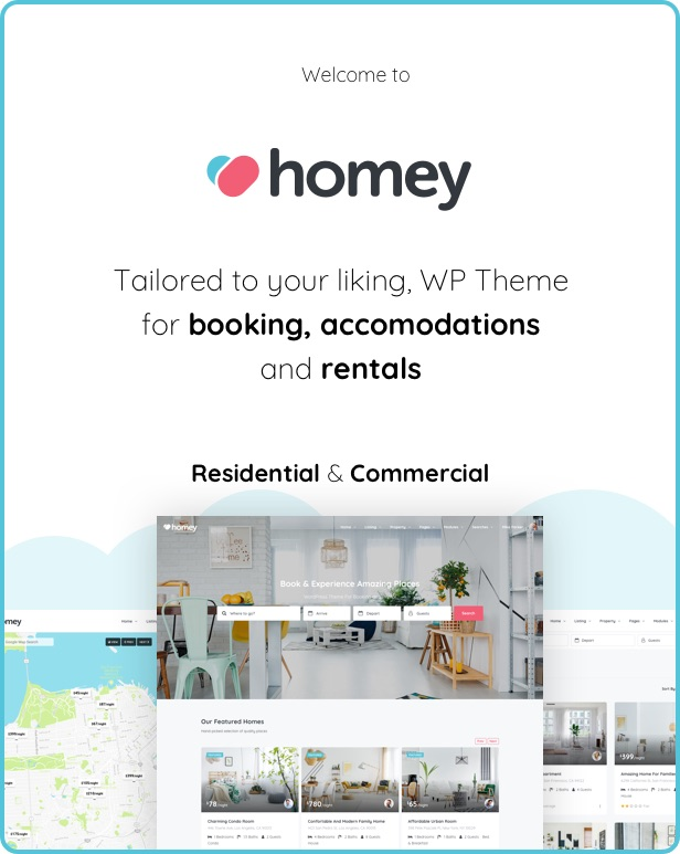 Homey - Booking and Rentals WordPress Theme - 5