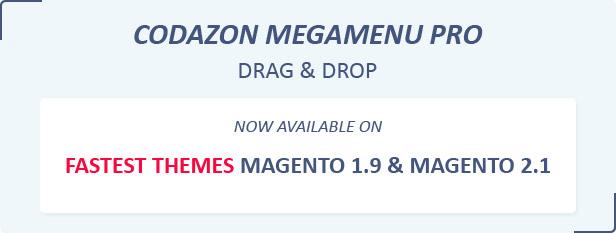 Codazon Megamenu Pro Magento 1 and Mega Menu Magento 2