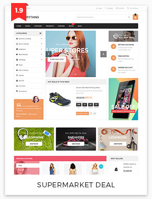 supermarket deal magento theme 1.9