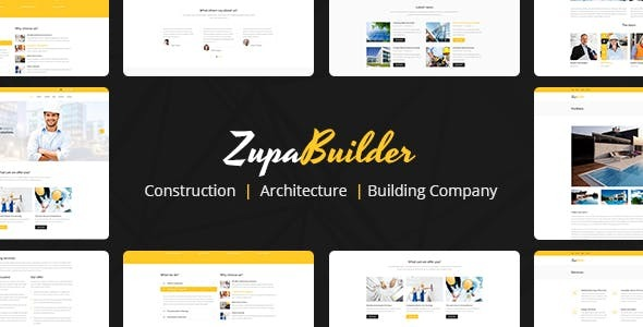 Download ZupaBuilder – Building and Architectural Joomla Template