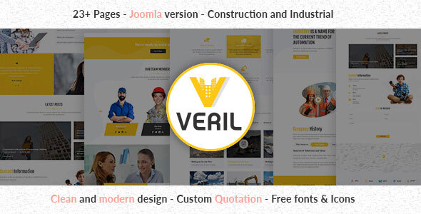 Download Veril - Construction and Industrial Joomla Template