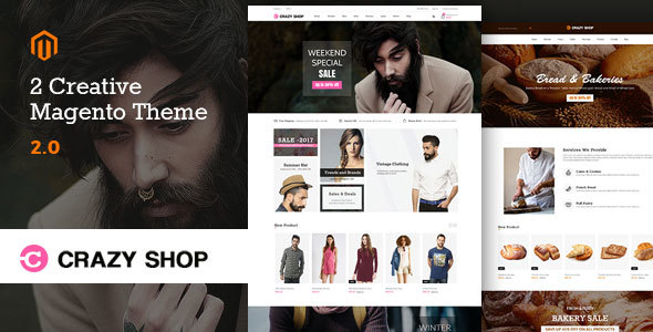Download Crazyshop Multipurpose Responsive Magento2 Theme | Fashion Store | Watch Store | Food Stor