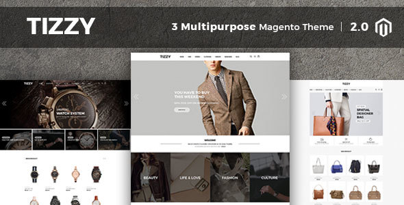 Download Tizzy - Multipurpose Responsive Magento2 Theme   Fashion Store   Watch Store   Cosmetic & Bag Store