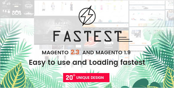 Download Fastest - Magento 2 themes & Magento 1. Multipurpose Responsive Theme (20 Home) Shopping