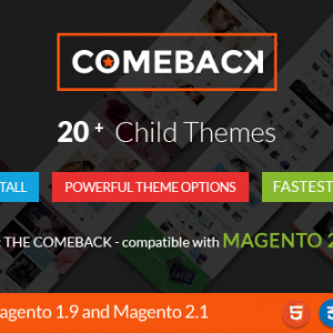 Download Comeback - Multi-purpose Creative Magento Themes Bundle