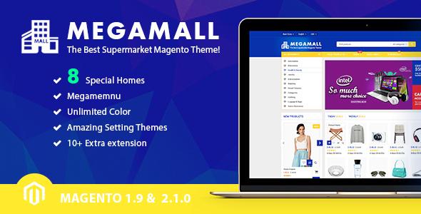 Download MegaMall - Creative Shopping Center Magento Theme