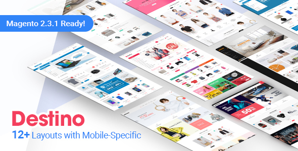 Download Destino - Premium Responsive Magento Theme with Mobile-Specific Layouts