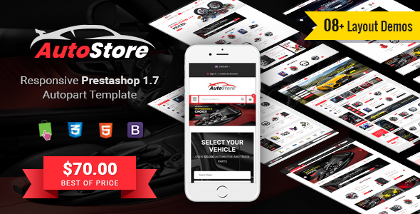 Download AutoStore - Responsive PrestaShop 1.7 Autopart Theme