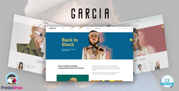 Download Bos Garcia - Elegant Fashion eCommerce Prestashop Theme