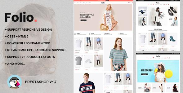 Download At Folio Prestashop 1.7.5.x Theme for Fashion