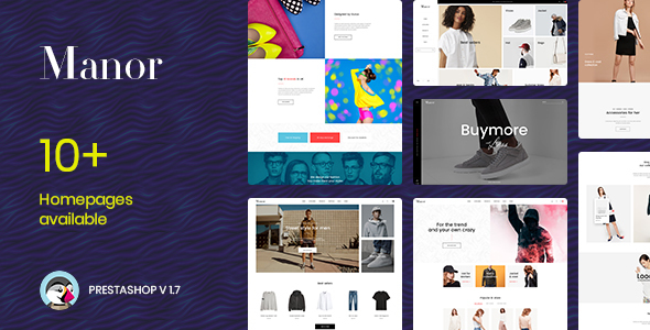 Download Manor Fashion  Prestashop 1.7.5.x Theme for Fashion   Clothing  Bags   Shoes   Accessories