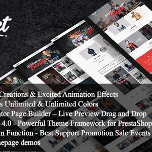 Download Xstreet - Street Fashion Boutique Prestashop Theme