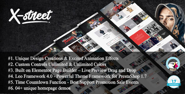 Download Xstreet - Street Fashion Boutique Prestashop Theme