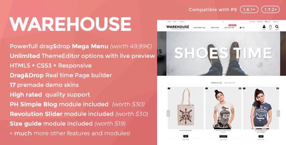 Download Warehouse - Responsive Prestashop 1.6 & 1.7 theme
