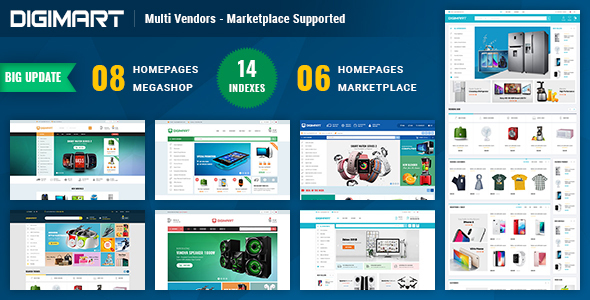 Download Digimart | Multi Vendors - Marketplace PrestaShop 1.7 Theme (  Compatible JA Marketplace )