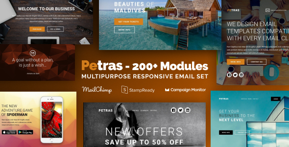 Download Petras 200 - Multipurpose Email Set with MailChimp Editor