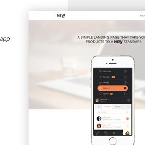 Download NEW Html App Landing Page Template