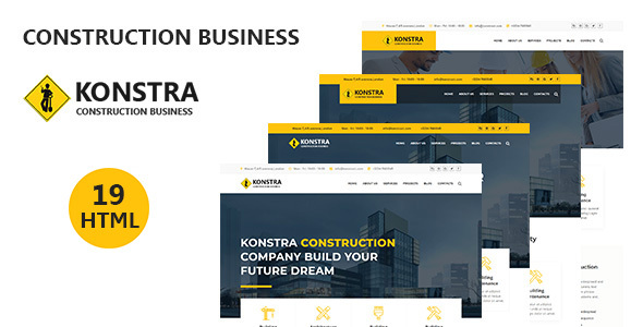Download konstra - Construction Building HTML Template