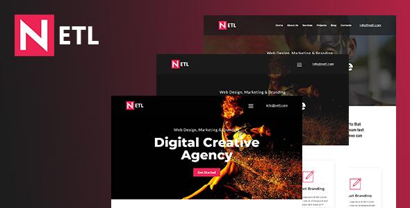 Download Ntel - Digital Agency  HTML Template