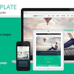 Download Clean Responsive Html Template