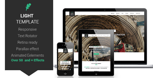 Download Light Html One-Page Template