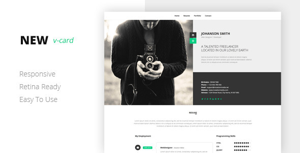 Download NEW Html Vcard Template