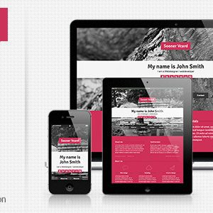Download Sooner Responsive One Page V-card Template