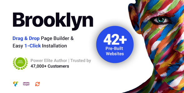 Brooklyn theme wordpress zip file download and review