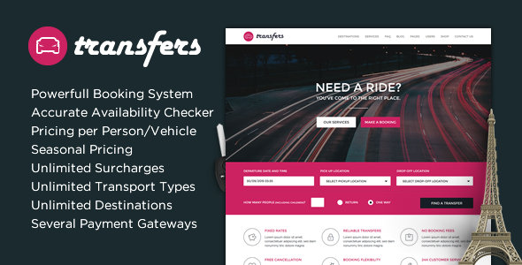 Download Transfers - Transport and Car Hire WordPress Theme