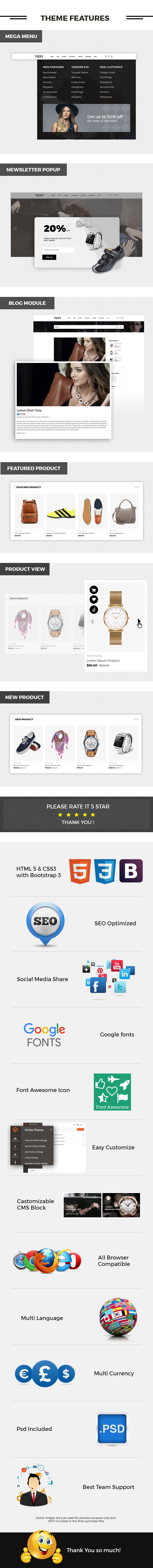 Tizzy - Multipurpose Responsive Magento2 Theme   Fashion Store   Watch Store   Cosmetic & Bag Store - 3