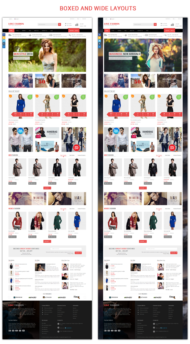 Love Fashion - Boxed and Wide layout