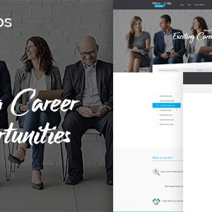Download Micro Jobs - Search Portal PSD Template